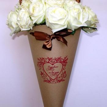 конус пакет для цветов