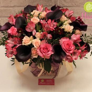 Букет в Плайм коробке для цветов