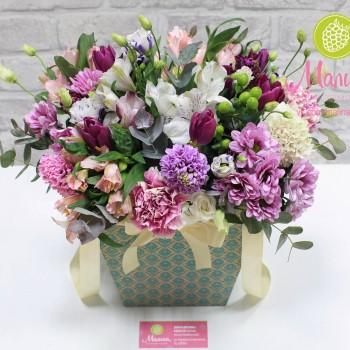 """Крафтовая коробка для цветов серии """"Твист"""""""