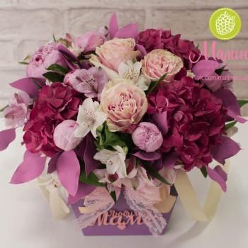 Коробка для цветов из крафта  серии Твист