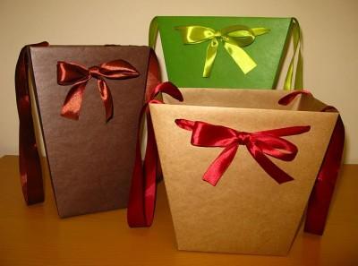 крафт пакеты, цветные крафт пакеты