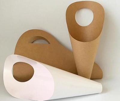 """Конусы """"Переноска"""" для цветов из крафта и ламинированного картона"""