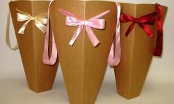 Ромбы для цветов из плотного крафт картона